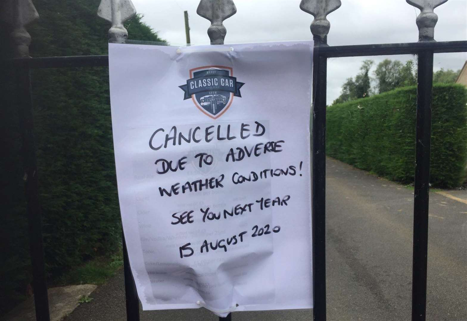 Popular event cancelled by 50mph winds