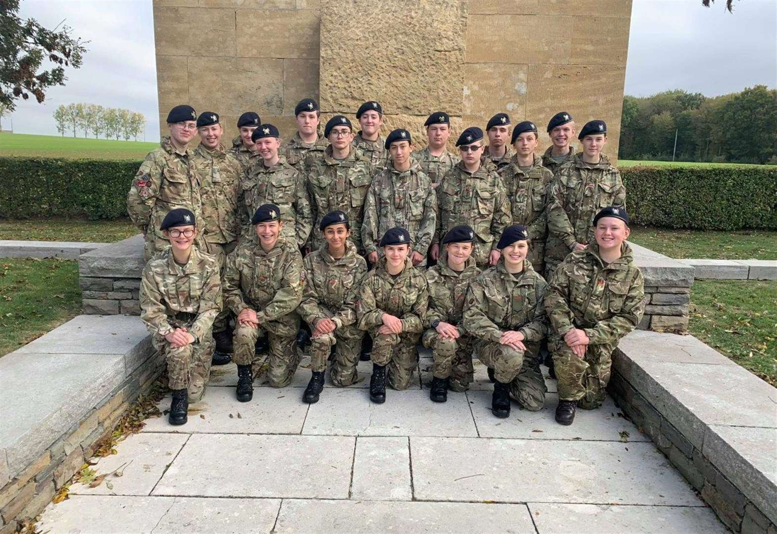 Cadets learn about sacrifices on France trip