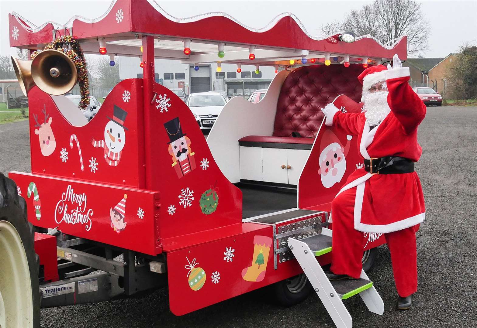 Find out when you can catch a glimpse of Santa in his sleigh