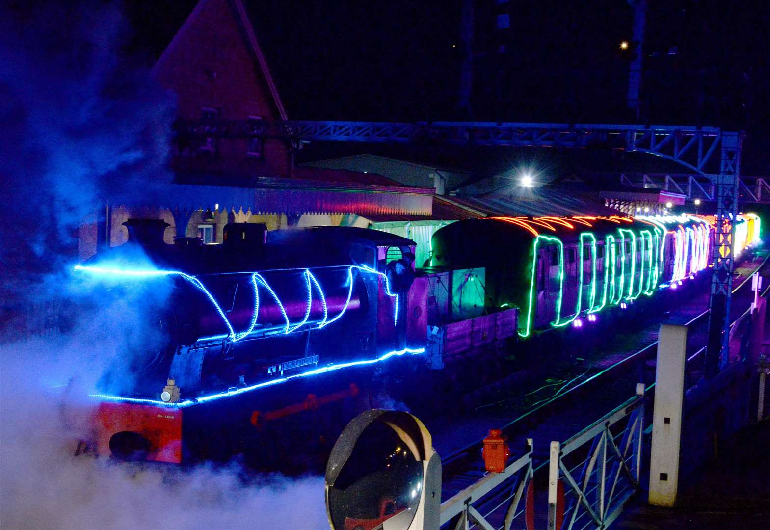 Winter sparkling train is truly spectacular