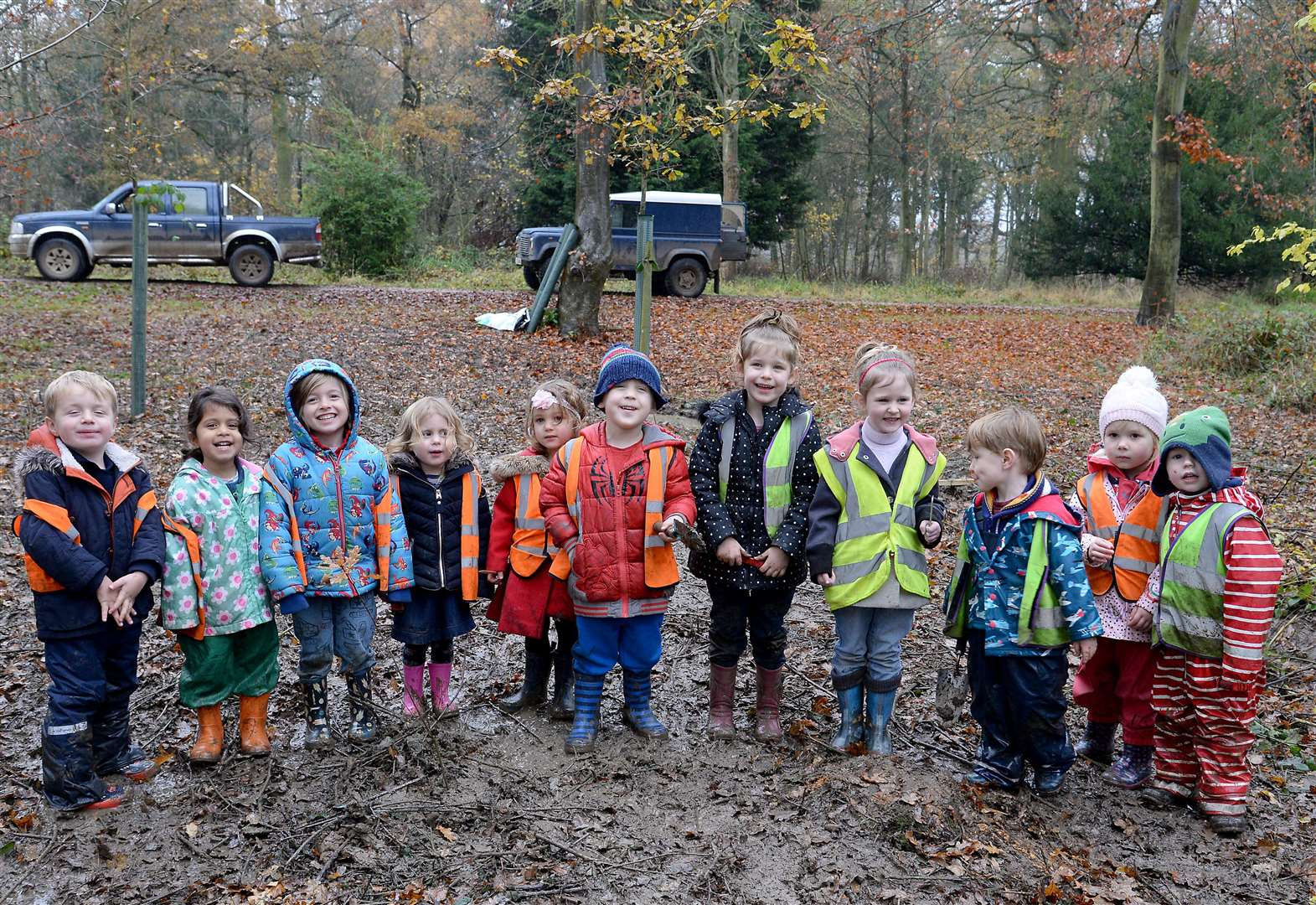 Children get involved in fight against climate change by planting trees