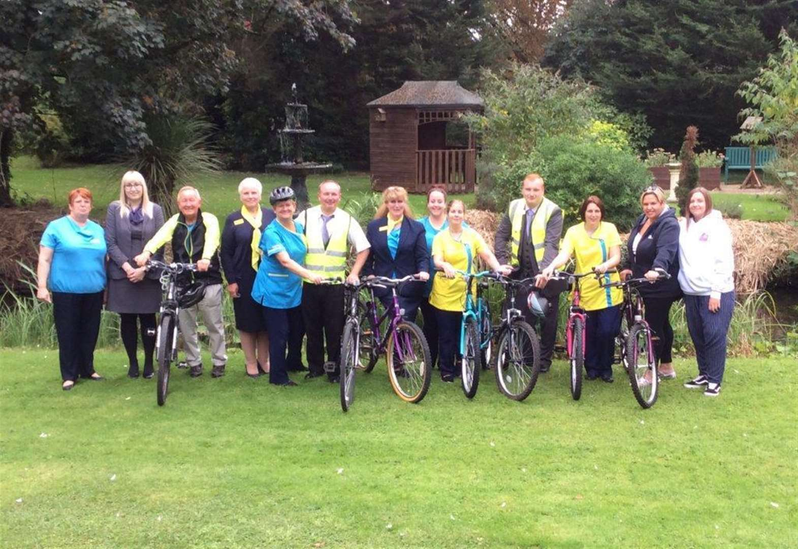 Care home staff hit the road for charity