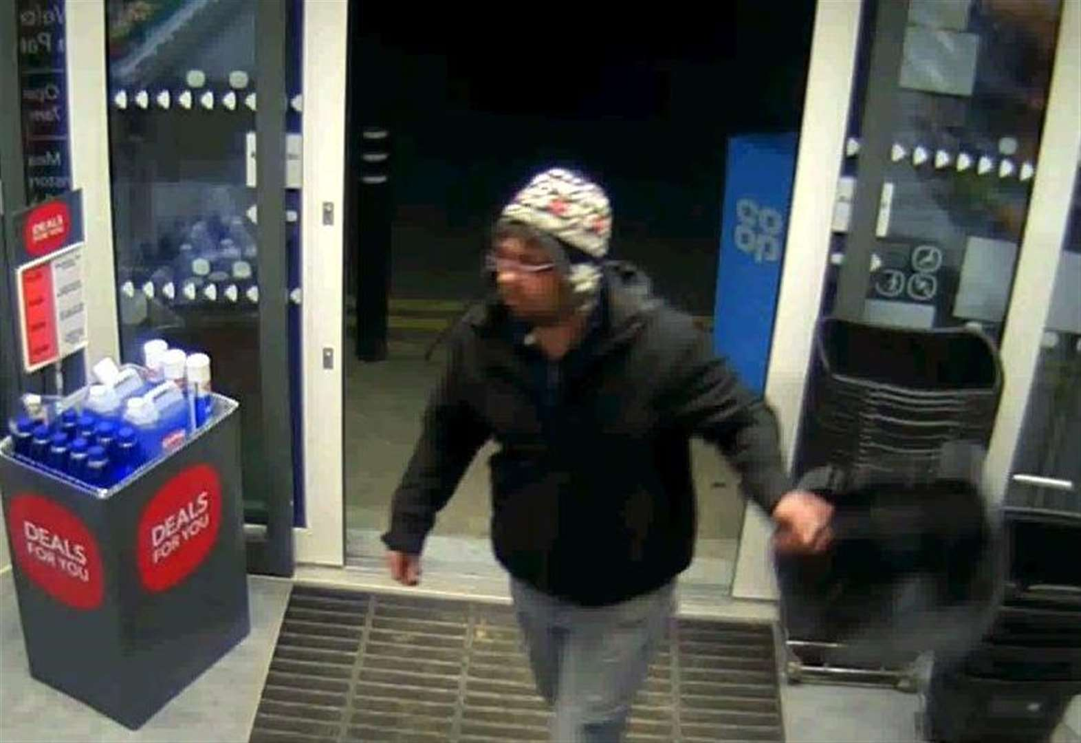 Man is sought over theft from Elsea Park Co-op in Bourne