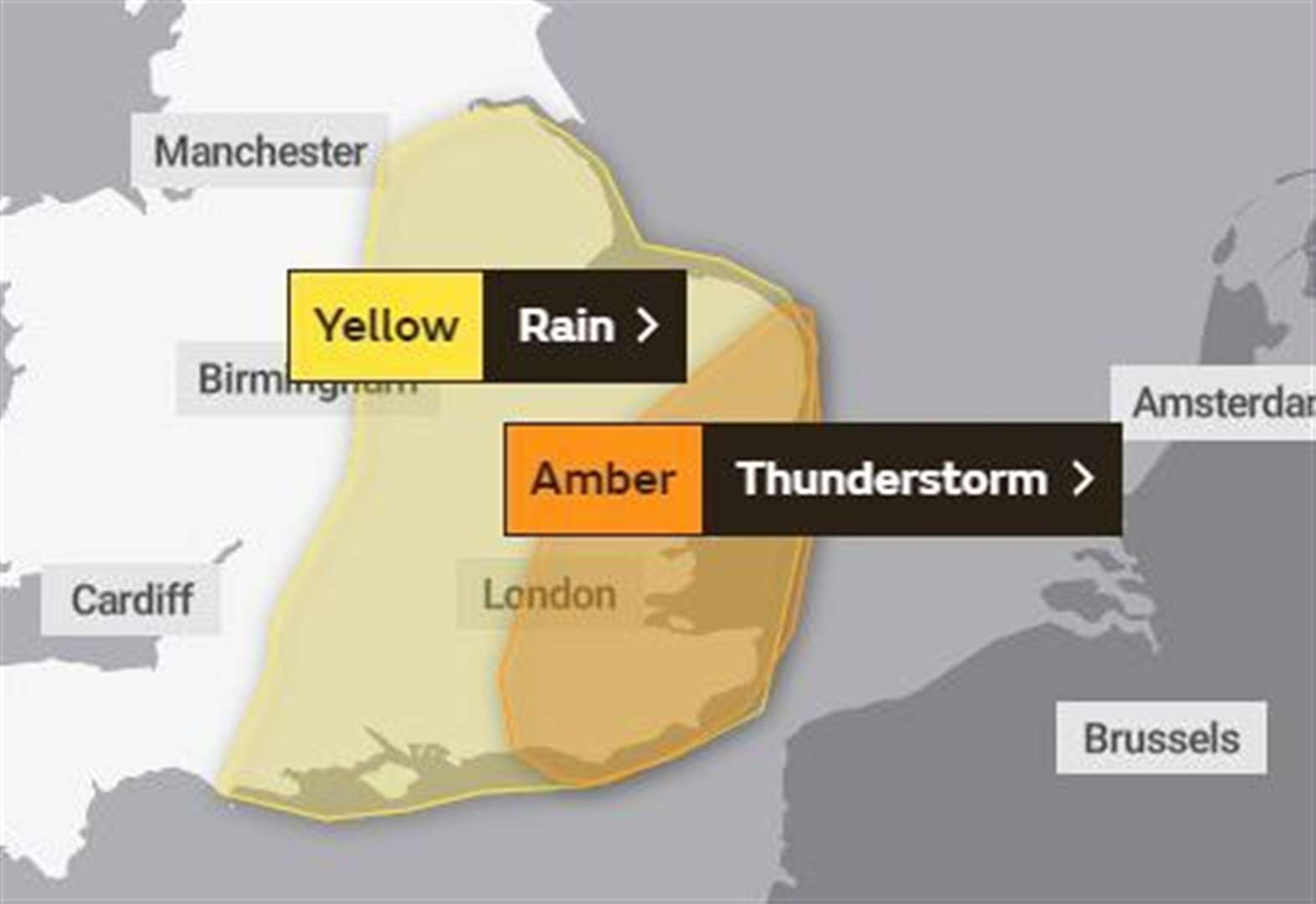 Stamford, Bourne, the Deepings and Rutland set for heavy rain