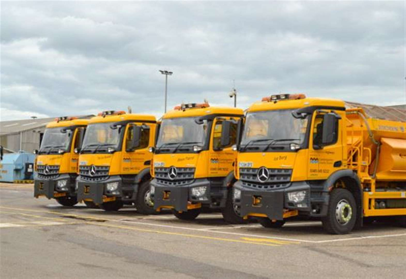 Gritters prepared for cold snap