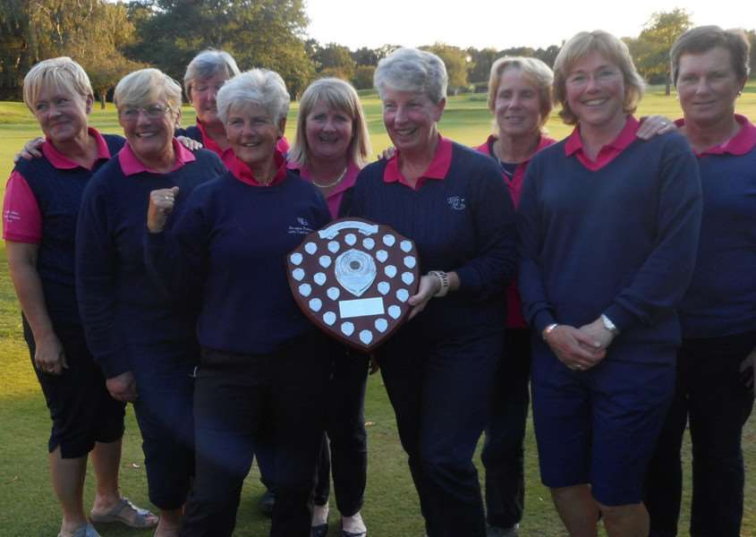 Toft Ladies after winning the Lincolnshire League.
