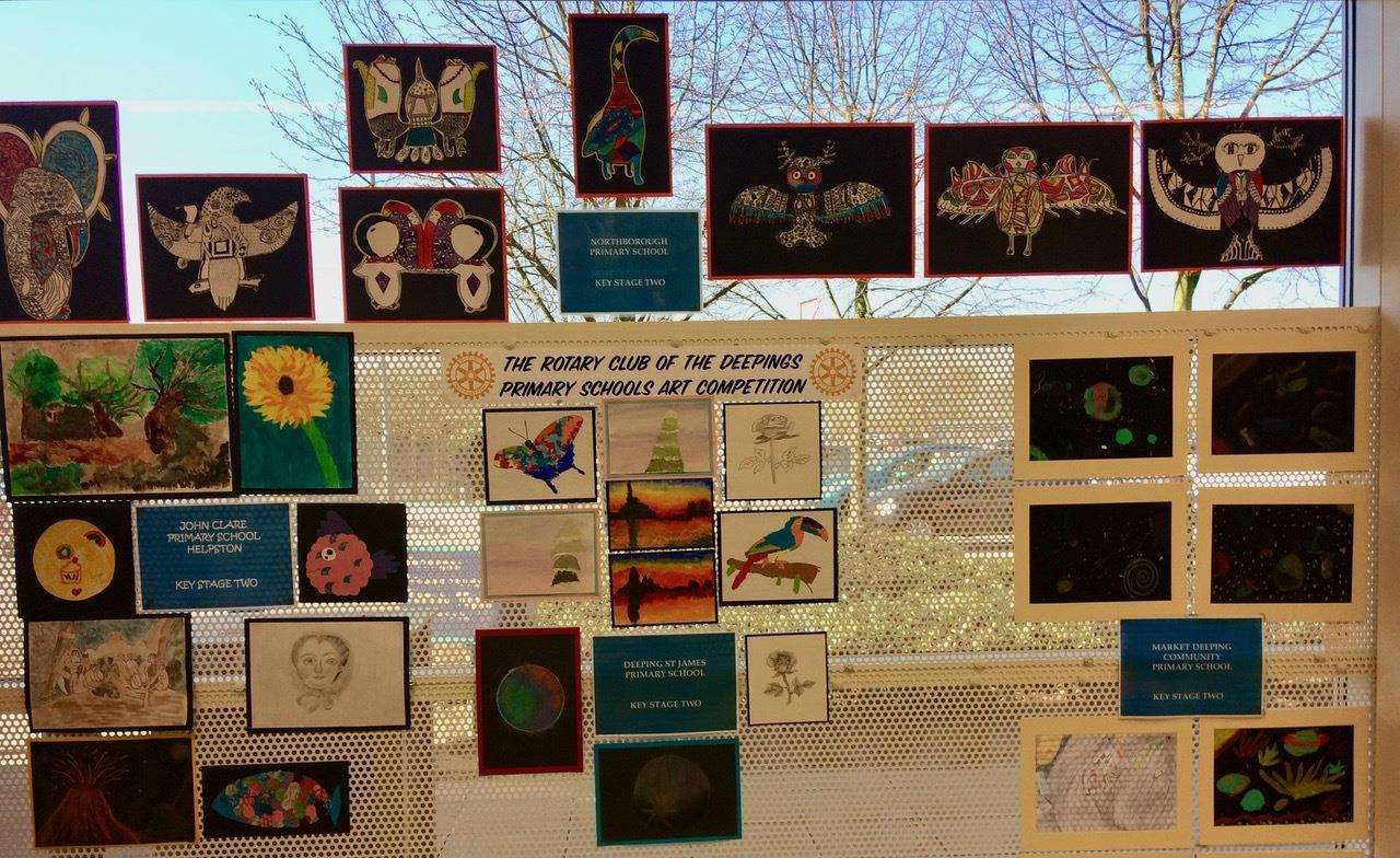 Young artists in the Deepings impressed with their creative work